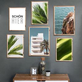 Palmen & Meer - 6er Poster Set