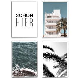 Schön Hier - 4er Poster Set