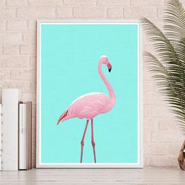 Aquarell Flamingo