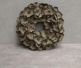 Palm cup wreath Ø 45 cm oud groen
