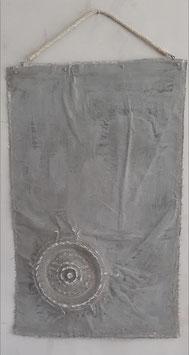Grijs kalkdoek met ornament