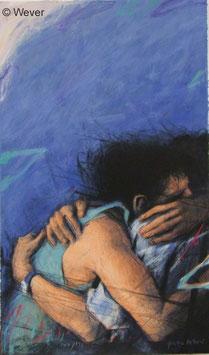 Peter Wever - Umarmung in Blau