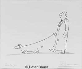 Peter Bauer - Hund Mann Leine