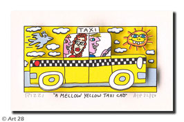 James Rizzi - A Mellow Yellow Taxi Cab