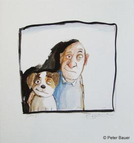 Peter Bauer - Hund und Herrchen