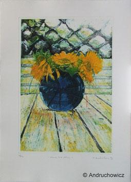Dietlinde Andruchowicz - Blaue Vase längs