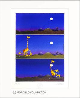 Mordillo - Giraffe and Moon