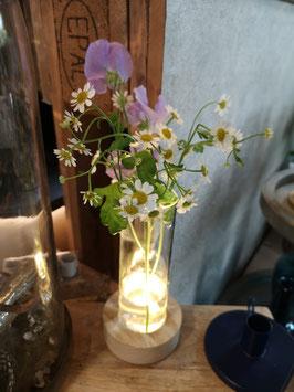 Vase mit LED Licht