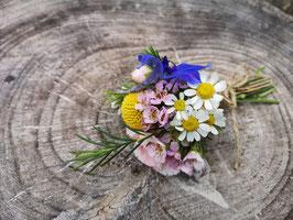 Anstecker für Bräutigam, Trauzeuge und Blumenjunge