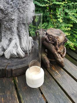 Vase mit Holzfuß