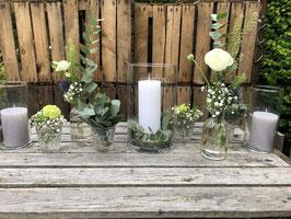 Tischdekoration komplett incl. Kerzen