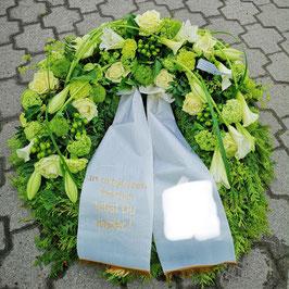 Trauerkranz weiß/grün