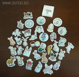 Cajita de stickers variadas