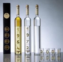 Anniversaire - Flasche mit allen Jahrgängen