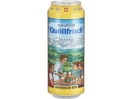 Appenzeller Quöllfrisch Hell und Naturtrüeb, Dose 50 cl