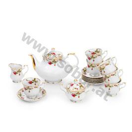 Ivona Rose Teeservice für 6 Person