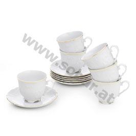 Rococo Teepaar für 6 Person