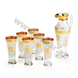 Gläser mit Karaffe Set