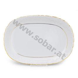 Rococo Platte oval