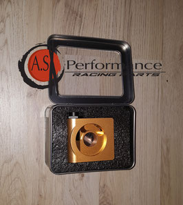 Ölfilter Adapter Platte mit rückseitigem Thermostat - Mishimoto M20x1,5 MMOP-SPTR
