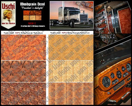 "1009 ""Trucker´s delight"" Interior Wood Grain Decals"