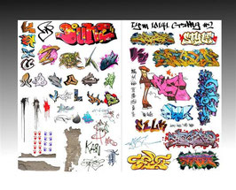 10142 Instant Graffiti Decal #2 WHITE OPAQUE