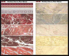 1018 Marble Decal Red/Beige