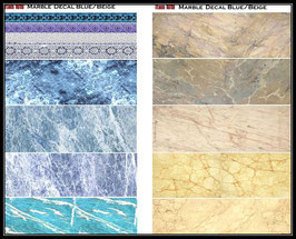 1019 Marble Decal Blue/Beige