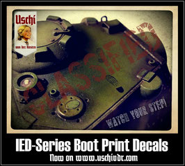 "IED-1 Bootprint Decals ""Mud"" or ""Dust"""