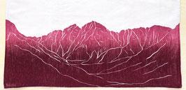 Maroon Bells mountain kitchen towel *14er*