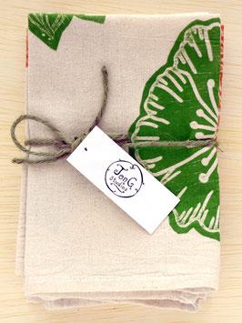 flower napkins, set of 6