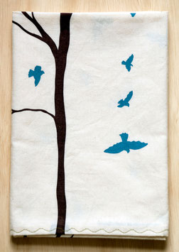 birds+tree kitchen towel