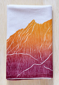 Mountain range kitchen towels Boulder Flat Irons orange single