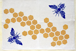 bees and honeycomb kitchen towel