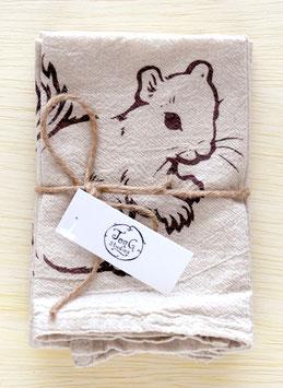 Squirrel napkins, set of 4