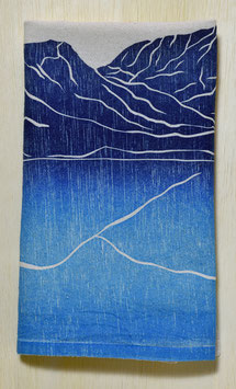 Mountain range kitchen towels blue Grand Lake single
