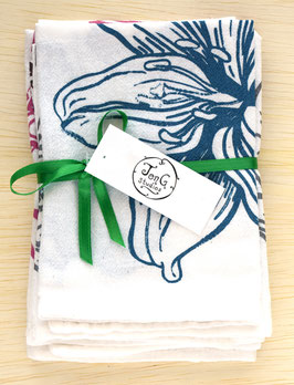muted flower napkins, set of 4
