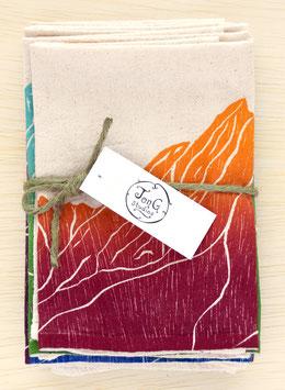 mountain napkins, set of 6