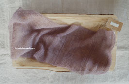 Wunderbar zarter Neugeborenen-Wrap, gemustert, mauve-taupe