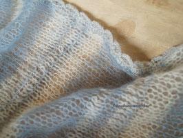 Wunderbar zarter Wrap im Materialmix, vintage blau/ hellblau/ hellgrau