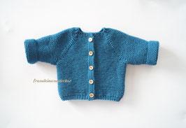Fräulein Wunderbars schlichtes Babyjäckchen (kraus), für die Babyfotografie, Gr. 50