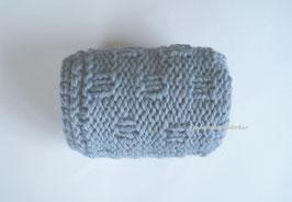 Wunderbar grobmaschige Minidecke, hellblau-jeans
