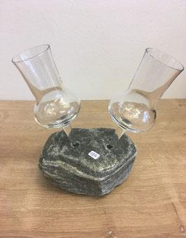 Stein mit 2 Grappagläser