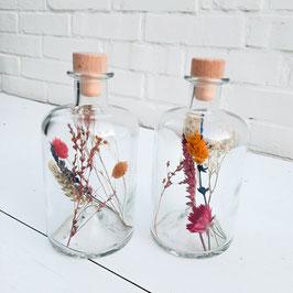 LENTE - Glazen fles met houten kurk