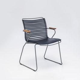 HOUE Stuhl Click mit Armlehne - Dunkelblau