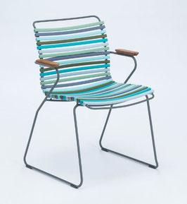 HOUE Stuhl Click mit Armlehne - Multiblau