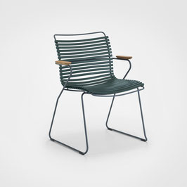 HOUE Stuhl Click mit  Armlehne - Dunkelgrün
