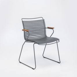 HOUE Stuhl Click mit Armlehne - Dunkelgrau