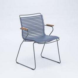HOUE Stuhl Click mit Armlehne - Taubenblau