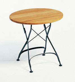 WEISHÄUPL Classic Tisch rund 75 cm  - Teakholz